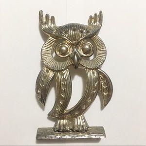 Mid Century Owl earring holder display vintage